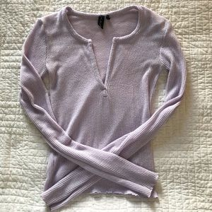 LILAC URBAN OUTFITTERS/OUT FROM UNDER KNOTCH TOP
